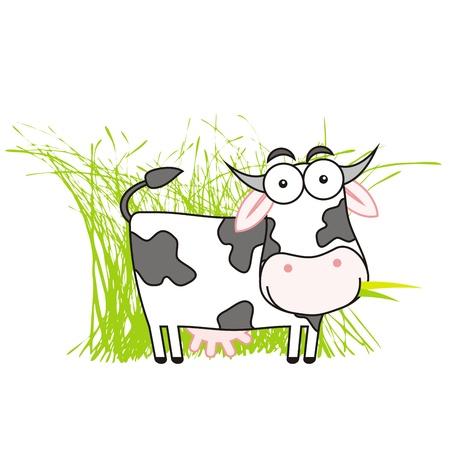 牛のイラスト  イラスト・ベクター素材