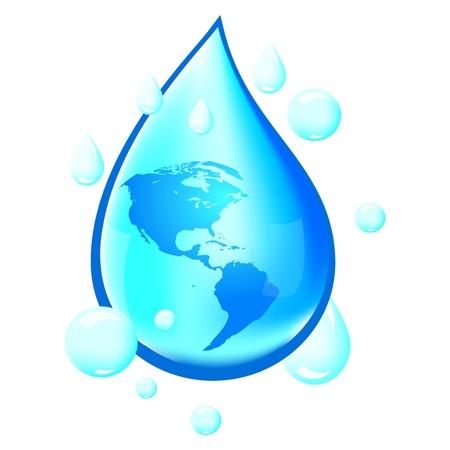 fresh water splash: Wasser-Illustration Illustration