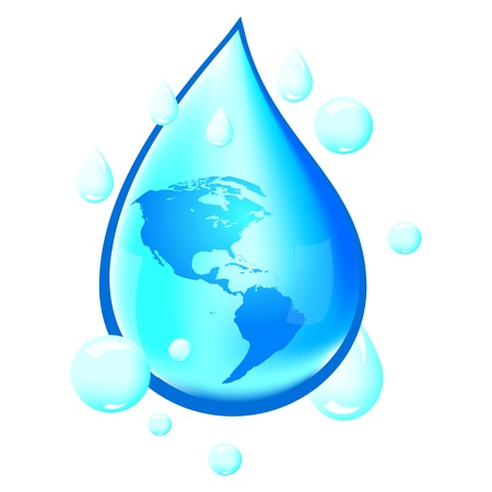 waterbesparing: Water Illustratie