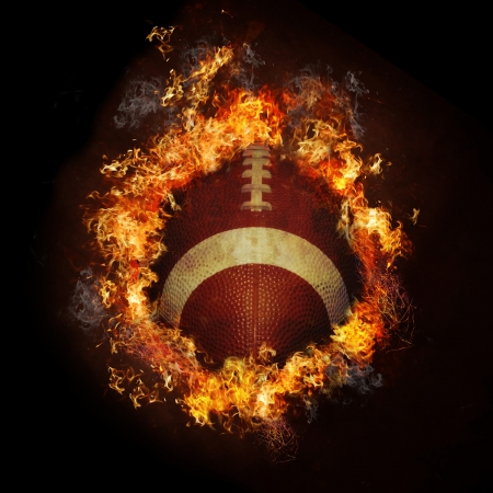 touchdown: Fire Football Stock Photo