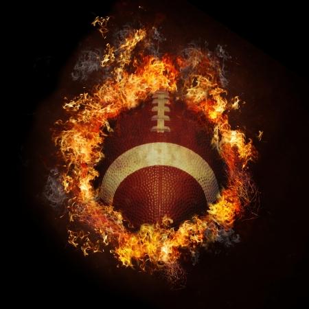 Fire Football Banque d'images