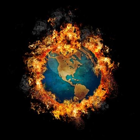 Fire Globe Banque d'images