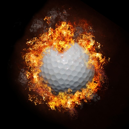 Fire Golf Ball photo