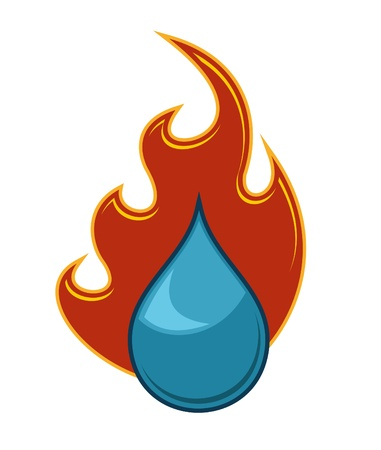 Fire and Water Illustration