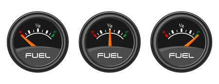 filling station: Car Gauges Illustration