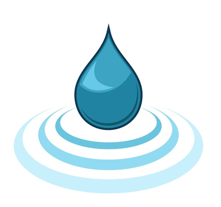 water logo: Water Drop Illustration