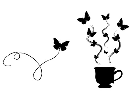 Tea Butterfly Vector