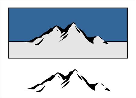 山のデザイン  イラスト・ベクター素材