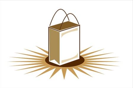 Brown Shopping Bag Illustration Illustration