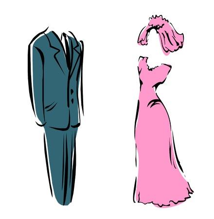 Tenues de mariage Banque d'images - 12153307