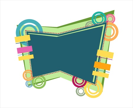 abstract logos: Fun and colorful illustration for a sign, banner