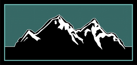 rocky mountains: Logo element for an outdoorsy mountain logo