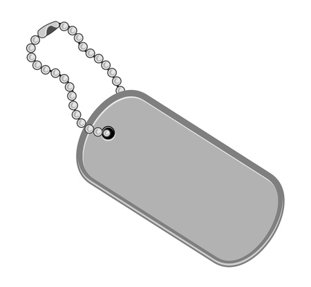 Dogtag, keychain illustration in white background