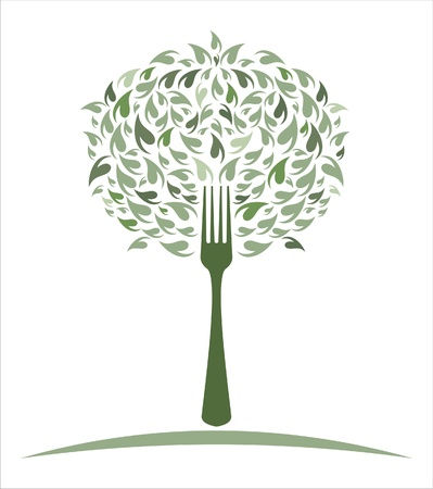 Green Salad with Fork