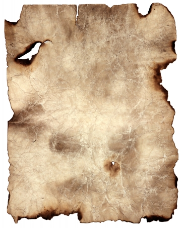 aged paper: Burnt Brown Parchment Paper Background