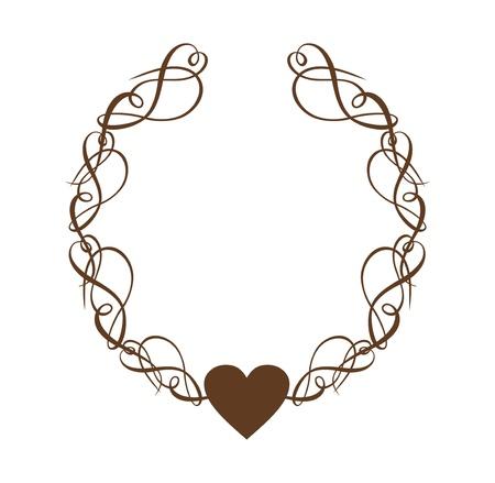 Guirlande de coeur de défilement Banque d'images - 15820782