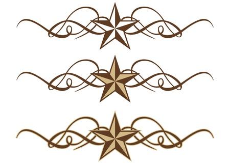 Three Western Star Scrolls in Format