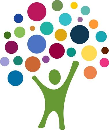 nonprofit: Colrful Tree Person