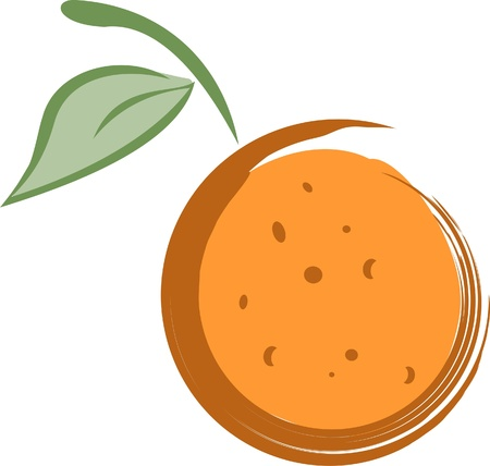 Abstract Orange Illustration Illustration