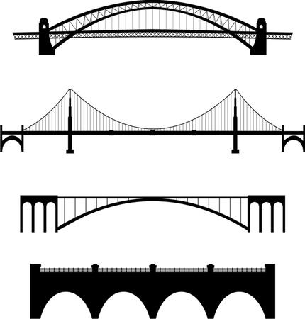 橋のセット  イラスト・ベクター素材