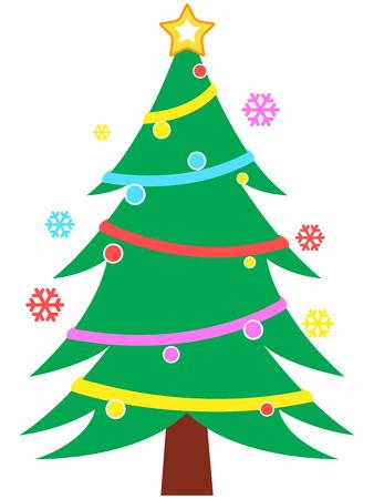 christmas tree illustration: Christmas Tree Illustration Illustration