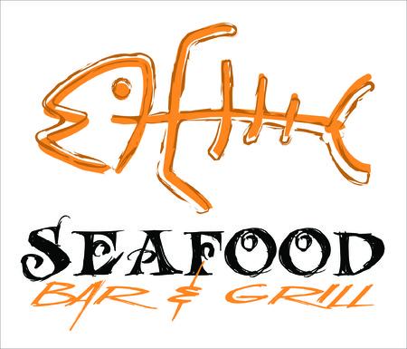 fishes: Fish bone icon Illustration