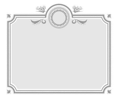 isolated on gray: Isolated Gray Elegant Certificate Background Illustration