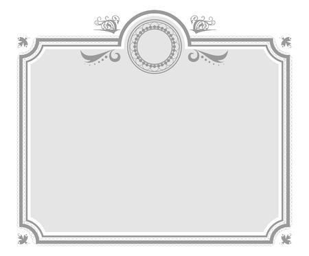 Isolated Gray Elegant Certificate Background Illusztráció
