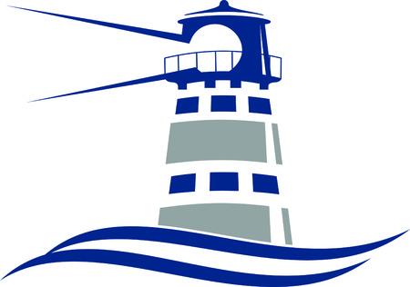 2 color Lighthouse Icon in vector format. Illusztráció
