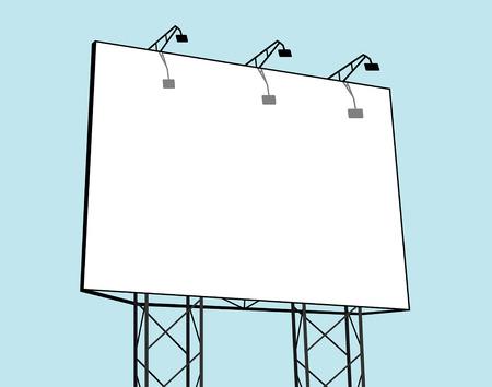 Billboard  in blue background Illustration