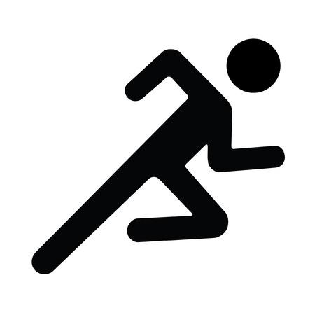 Vektor-Illustration Schatten Running man weiß schwarz Vektorgrafik