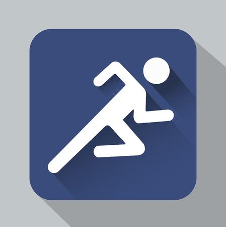 signaling: Vector Running man Illustration shadow