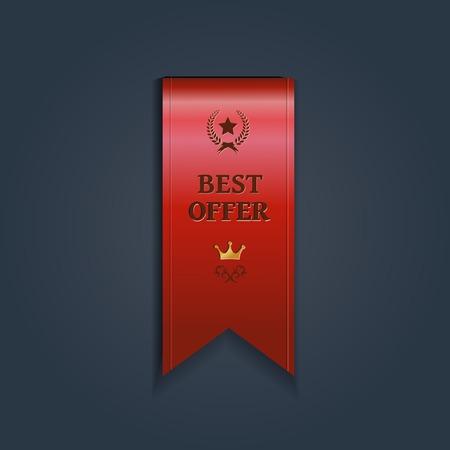 ribbon vector: Special offer ribbon - vector illustration