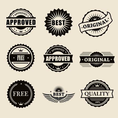 Timbres commerciales prévues dans le style vintage pour les affaires et la conception Banque d'images - 31476759