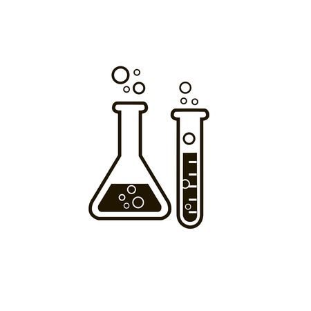 reaction: laboratory glass illustration on white