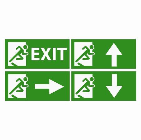boarders: Exit boarders collection isolated on white Illustration