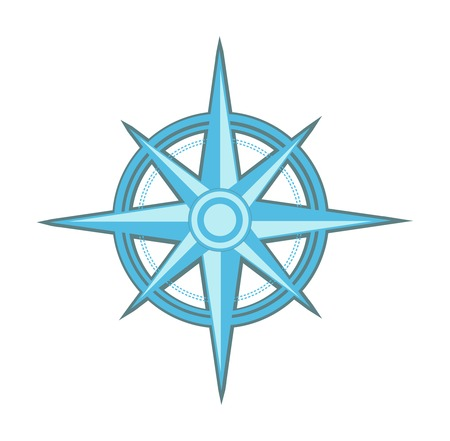 Wind rose - compass star Vector