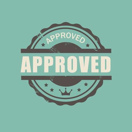 approved stamp: Aprobado Vector sello sello comercial de estilo vintage para los negocios y el dise�o