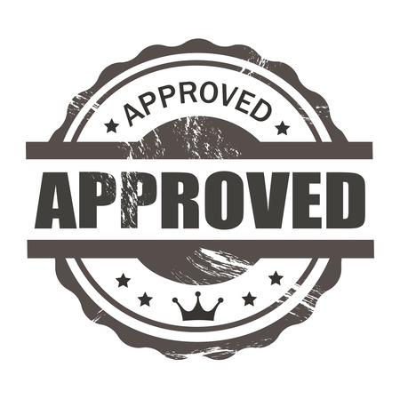 approved stamp: aprobado sello sello comercial de estilo vintage para los negocios y el dise�o