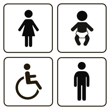 Signs Badezimmer Für Männer Frauen Kinder Und Behinderte