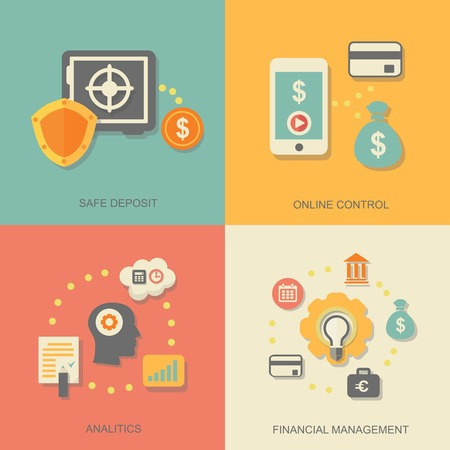 icons of financial analytic Vector