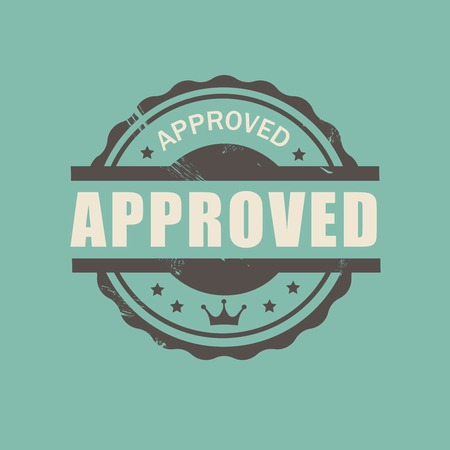proved: approved stamp stamp commercial  in vintage style for business and design
