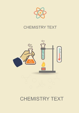 Chemistry infographic vector illustration, infographics template for medical research documents reports and thesis Vector