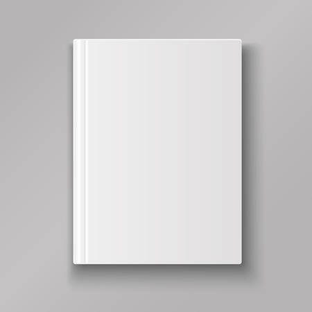 Blank book cover isolated  with shadow vector 向量圖像
