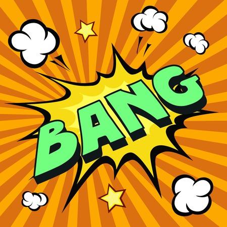 bursting: bang cartoon comic explosion colored vector