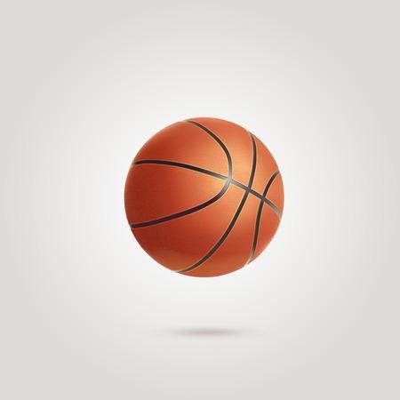 basket ball: Orange basket ball isolated vector
