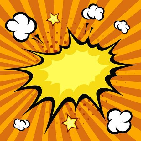 bang: Comic book explosion,  cartoon bang  illustration Stock Photo