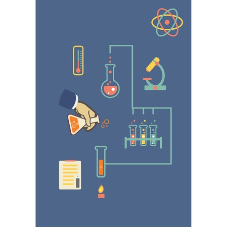 biochemical: Chemistry Medical laboratory infographic vector illustration, infographics template for biochemical research documents and reports