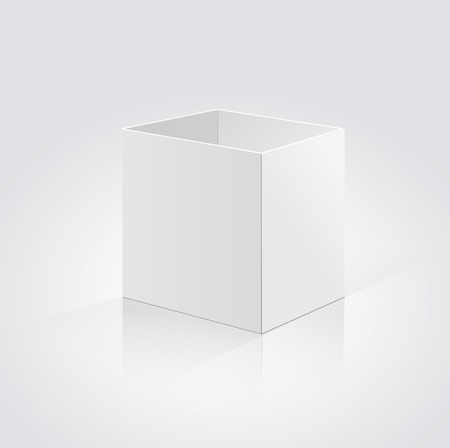 packer: Open box isolated on a white  background Illustration
