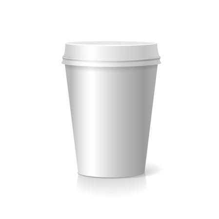 polystyrene: blank paper Coffee drinking cup  isolated Stock Photo